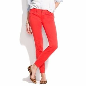 Madewell Skinny Skinny Jeans in Coral Red